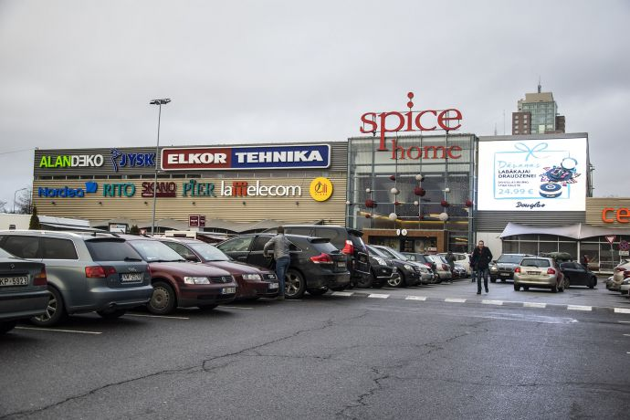 PALAMI-MediaTUBE screen for shopping mall SPICE HOME (Riga
